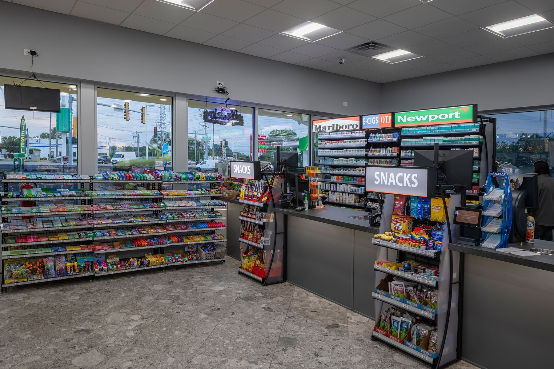 Check Out Station - BP Gas Station in Waukegan Custom Home. America's Custom Home Builders: New Construction, Remodeling, Restoration Services. Residential and Commercial.