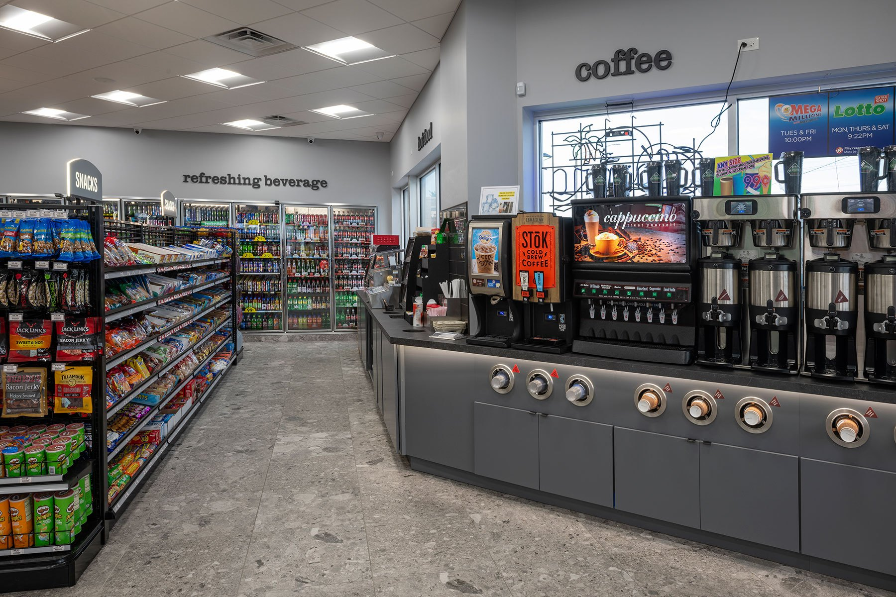 Coffee Station - BP Gas Station in Waukegan Custom Home. America's Custom Home Builders: New Construction, Remodeling, Restoration Services. Residential and Commercial.