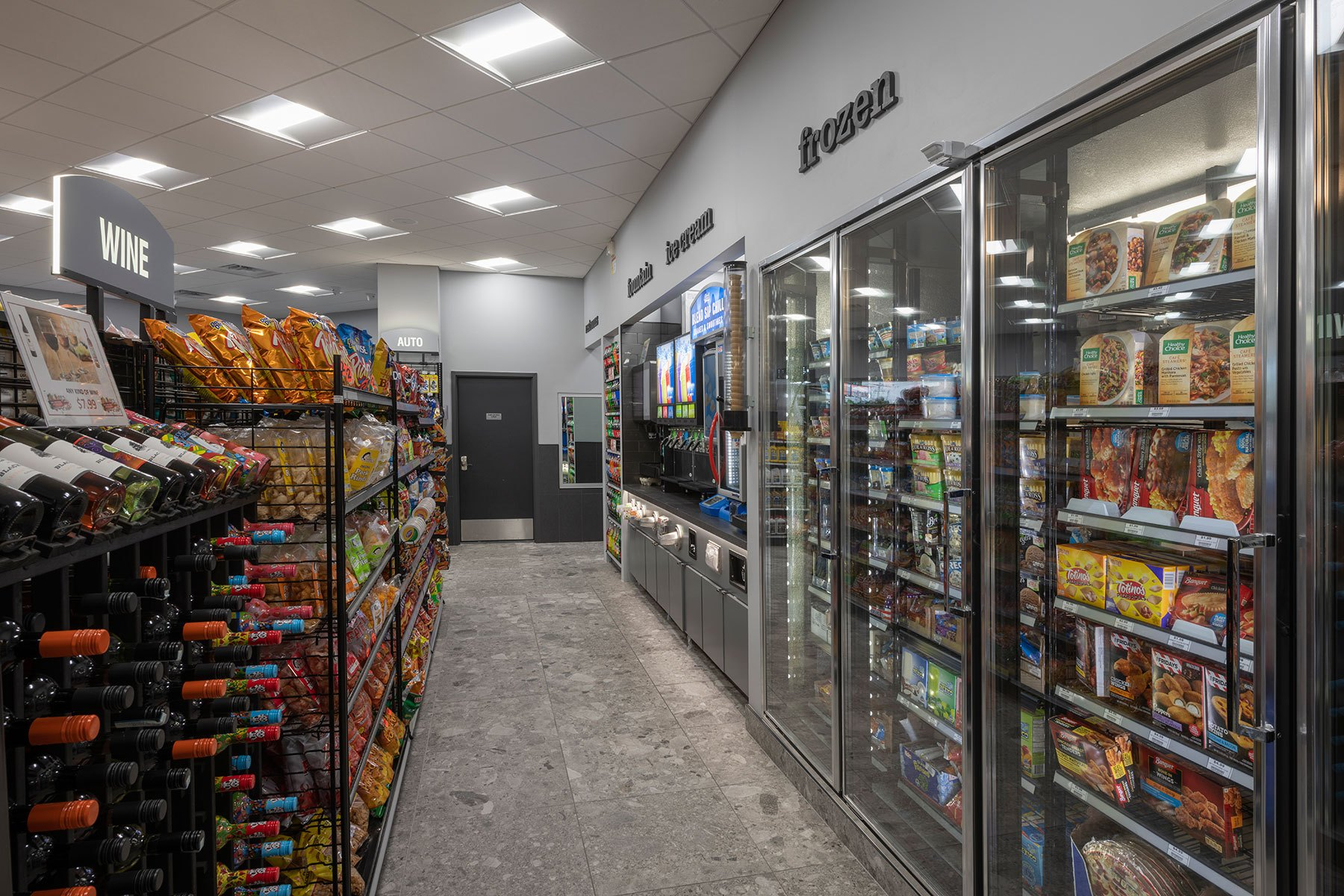 Frozen Foods - BP Gas Station in Waukegan Custom Home. America's Custom Home Builders: New Construction, Remodeling, Restoration Services. Residential and Commercial.