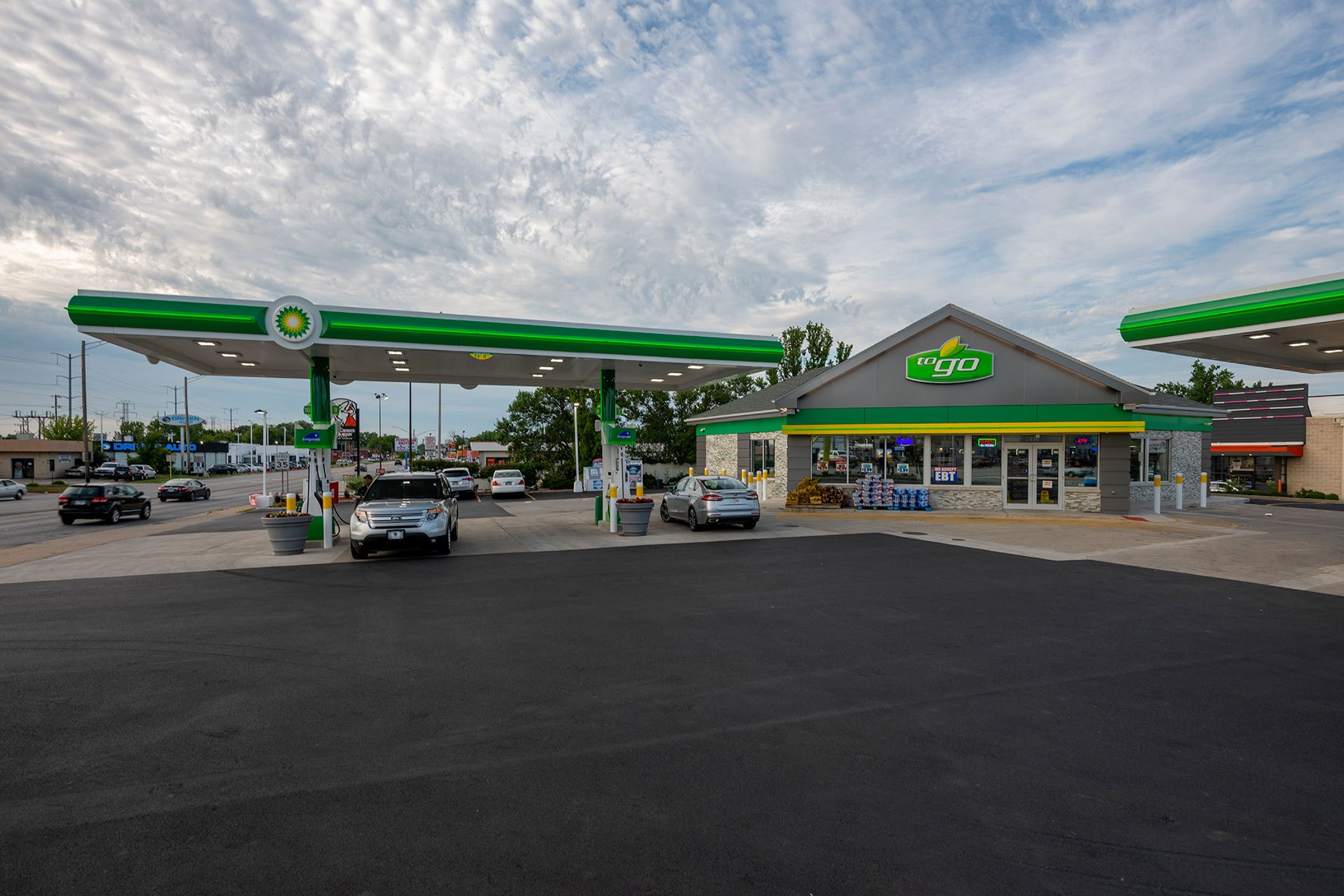 Northern View - BP Gas Station in Waukegan Custom Home. America's Custom Home Builders: New Construction, Remodeling, Restoration Services. Residential and Commercial.