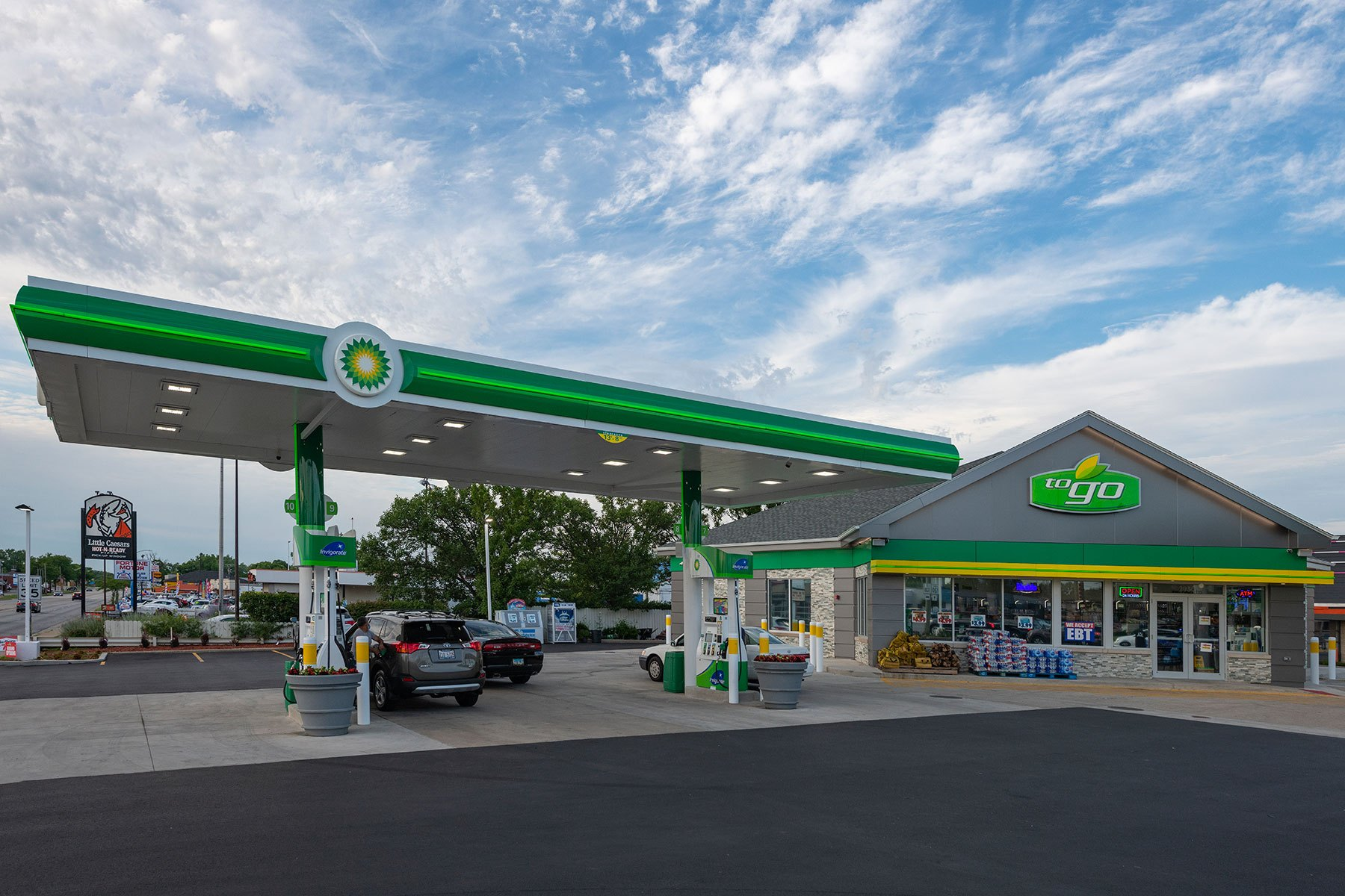 South Elevation - BP Gas Station in Waukegan Custom Home. America's Custom Home Builders: New Construction, Remodeling, Restoration Services. Residential and Commercial.