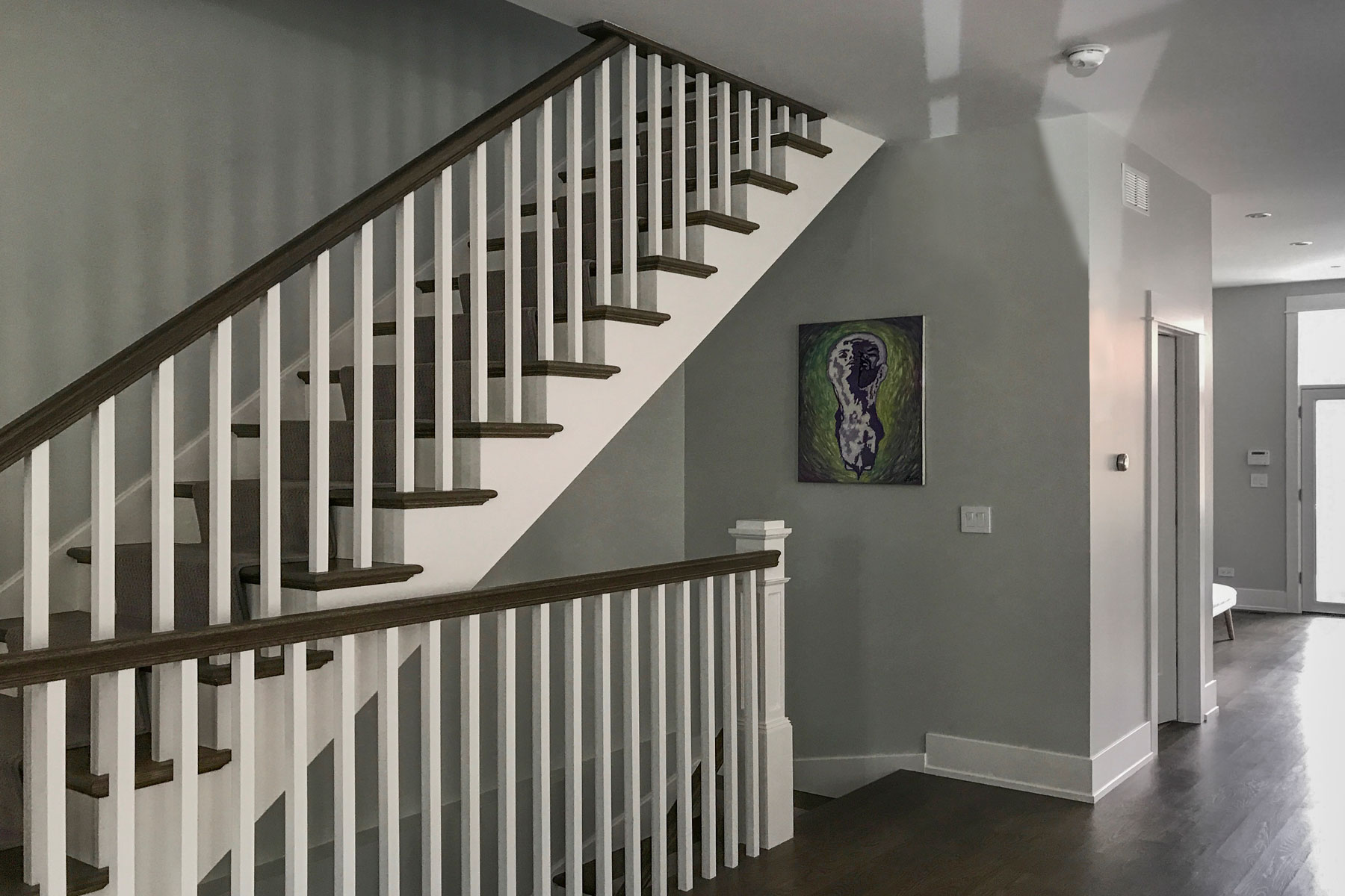 Staircase - Cleveland Ave., Lincoln Park, Chicago Custom Home. America's Custom Home Builders: New Construction, Remodeling, Restoration Services. Residential and Commercial.