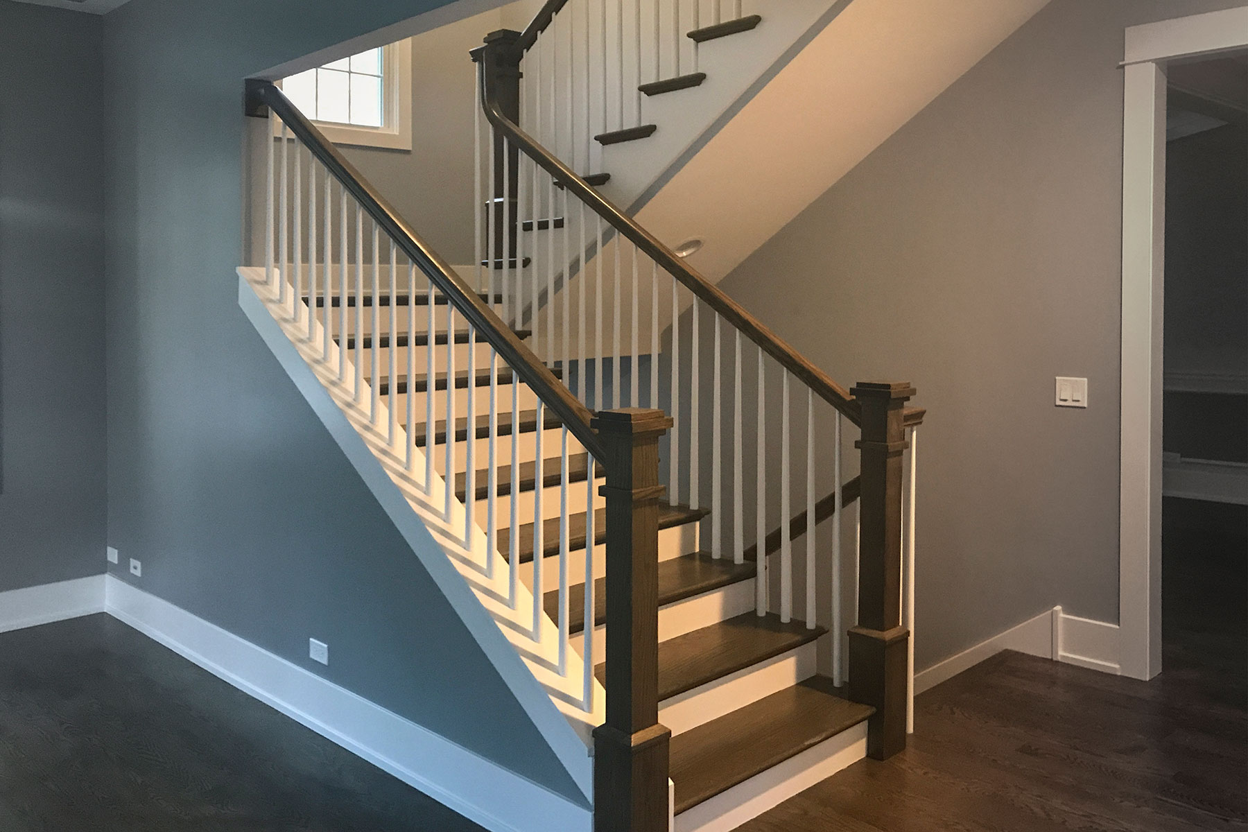 Stairs - Custom Home, Echo Lane, Glenview, IL Custom Home. America's Custom Home Builders: New Construction, Remodeling, Restoration Services. Residential and Commercial.