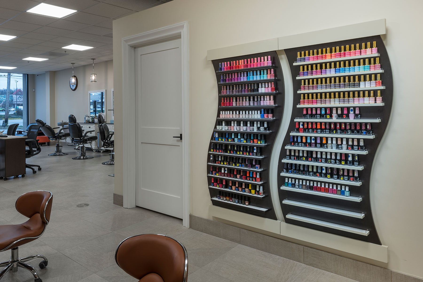 Nail Polish Selection - Hollywood Trendz Hair & Spa Salon, Addison Custom Home. America's Custom Home Builders: New Construction, Remodeling, Restoration Services. Residential and Commercial.