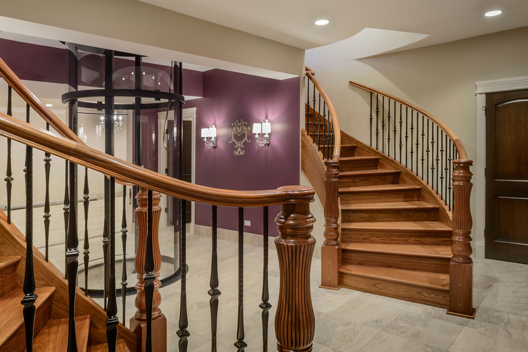 Second Floor, Elevator - Mango Ave., Morton Grove, IL Custom Home. America's Custom Home Builders: New Construction, Remodeling, Restoration Services. Residential and Commercial.