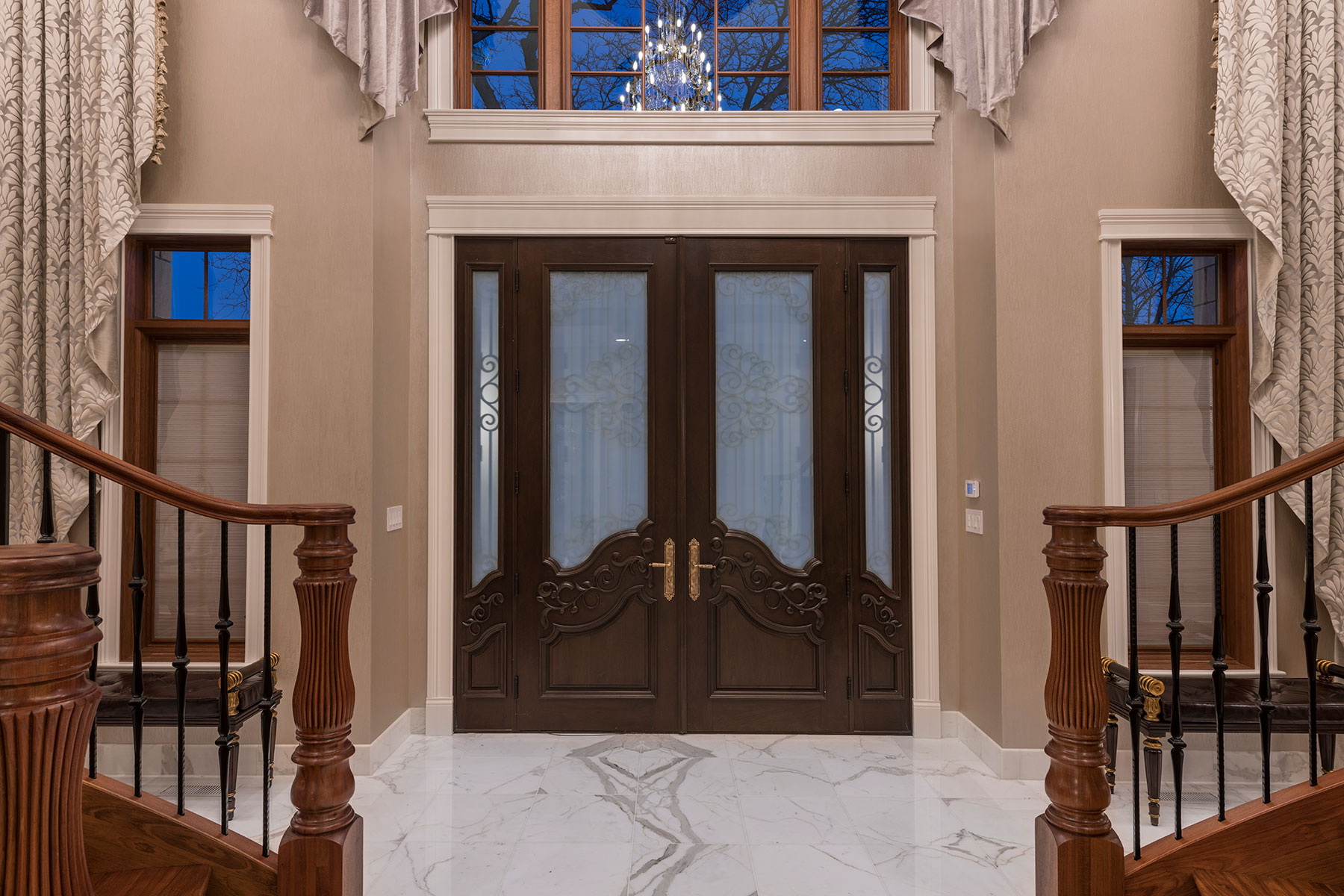 Glass Elevator - Mango Ave., Morton Grove, IL Custom Home. America's Custom Home Builders: New Construction, Remodeling, Restoration Services. Residential and Commercial.