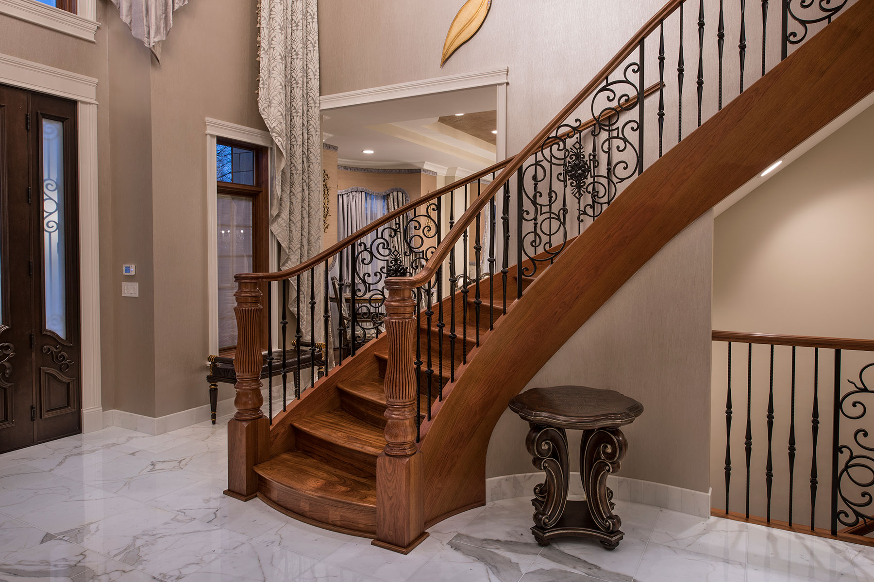 Foyer, Stairs, Elevator - Mango Ave., Morton Grove, IL Custom Home. America's Custom Home Builders: New Construction, Remodeling, Restoration Services. Residential and Commercial.