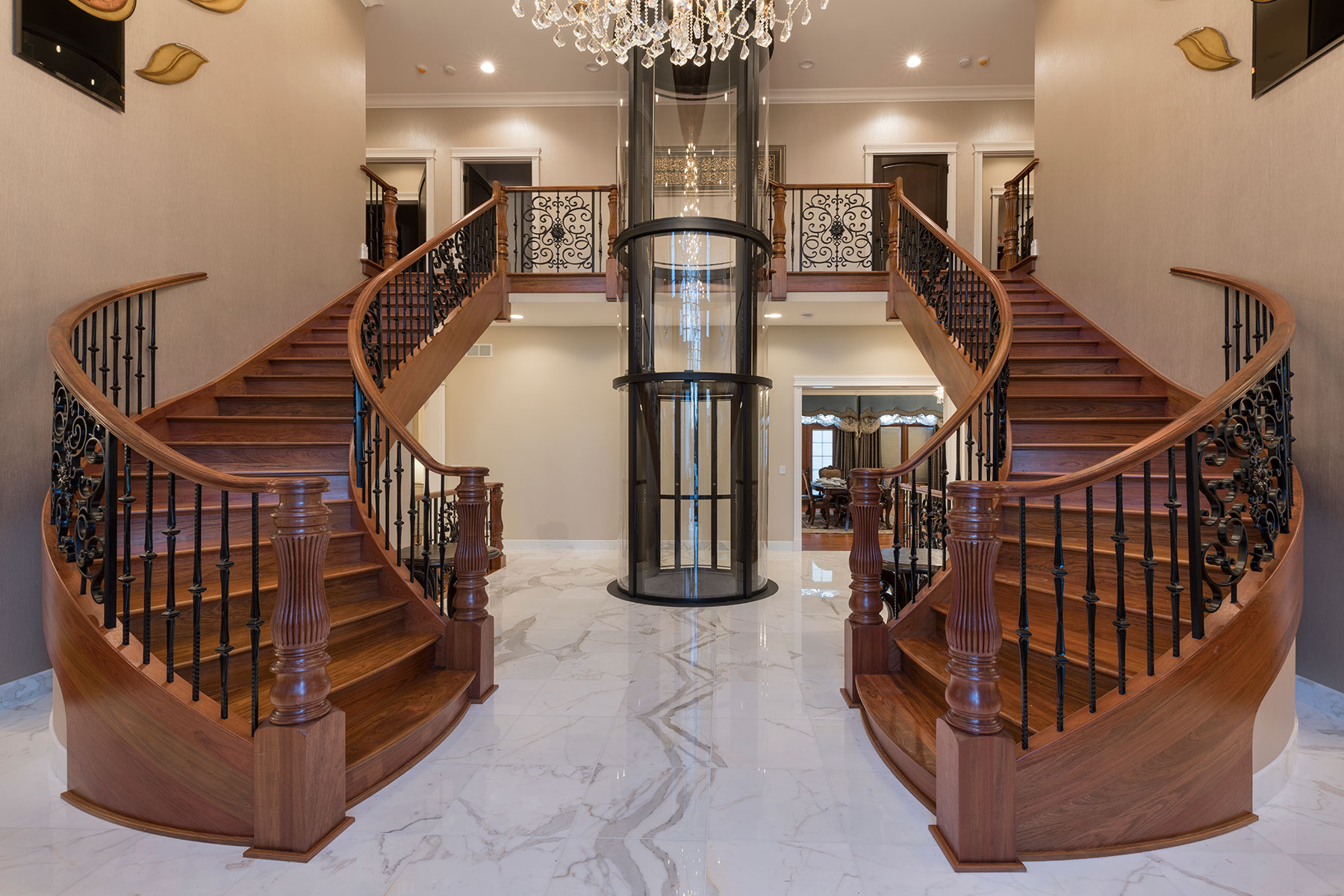Staircases - Mango Ave., Morton Grove, IL Custom Home. America's Custom Home Builders: New Construction, Remodeling, Restoration Services. Residential and Commercial.