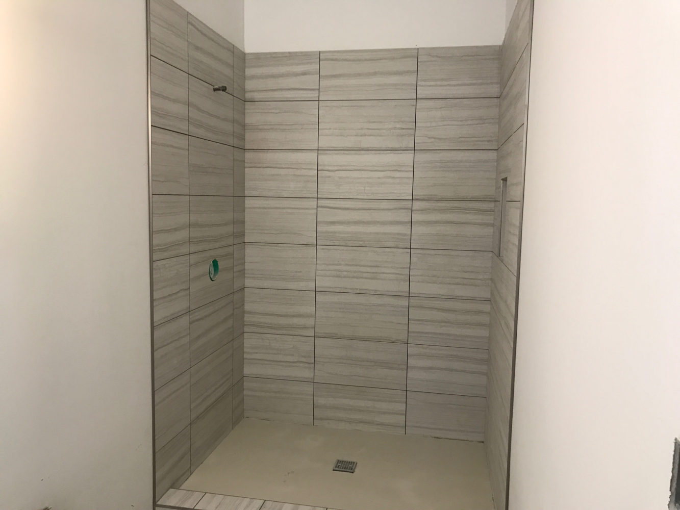 The Tile Work Has Started At Our New Construction In Lincoln Park